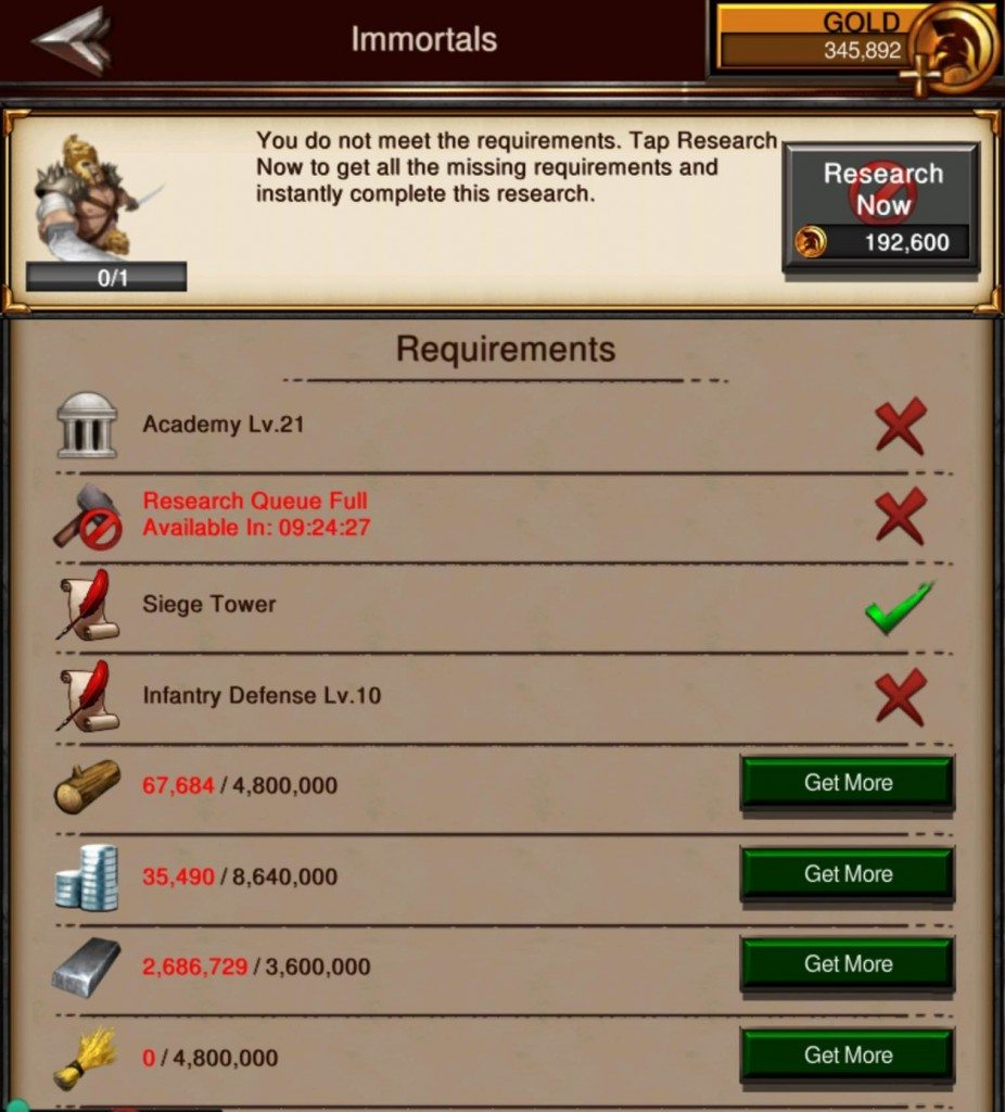 Unlocking t4 troops requirements inside game of war